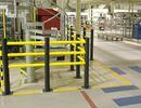 Påkjøringsbeskyttelse Kilan, T-stolpe til rekkverk Kilan, H 1200 mm