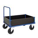 Plattformvogn Uvan med laminat, lav, LxBxH 1200x800x900 mm, blå, 4 vegger