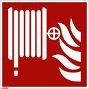 Brannskilt, etterlysende, brannslange, 200x200 mm, aluminium, 10-pk
