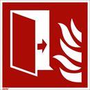 Brannskilt, etterlysende, branndør, 200x200 mm, aluminium, 10-pk