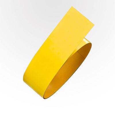 Gulvmerking Rusken, stål, L 1,5 m/rull, B 75 mm, gul, 5 stk eller flere
