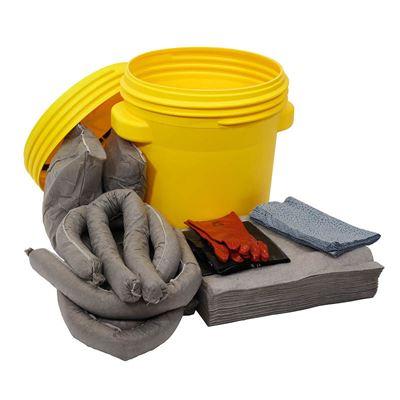 Lekkasjesett i sikkerhetstønne, 75 liter, universal, grå, 5 stk eller flere