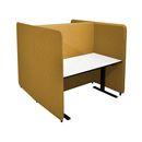Kontorbås Domo H-form, H 1650 til bord 1400x800, inkl. ben, Salsa 33 gul