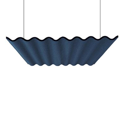 Lydabsorbent Scala, tak, uten belysning, LxBxD 1600x1207x60 mm, Blazer blå