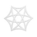 Lydabsorbent Airflake Line, hvit, 10 stk/pk