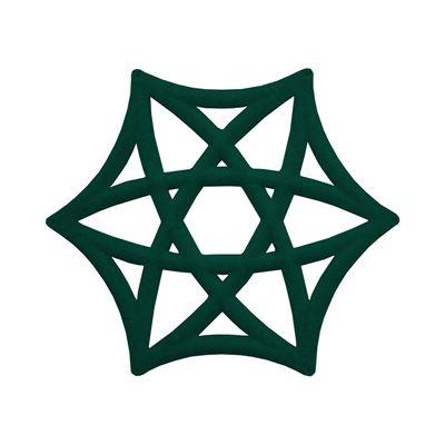 Lydabsorbent Airflake Line, mørkegrønn, 3 stk/pk