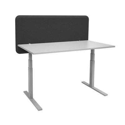 Bordskjerm Domo, LxHxD 2064x650x40 mm, svart