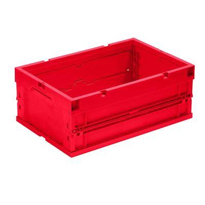 Klappboks Vilmos, LxBxH 600x400x320 mm, rød, 4 stk/pk