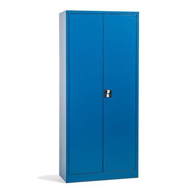 Stålskap Siljan, BxDxH 800x380x1800 mm, blå, matt
