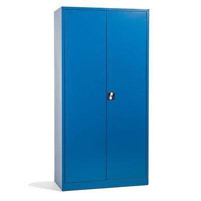 Stålskap Siljan, BxDxH 1000x500x2000 mm, blå, matt