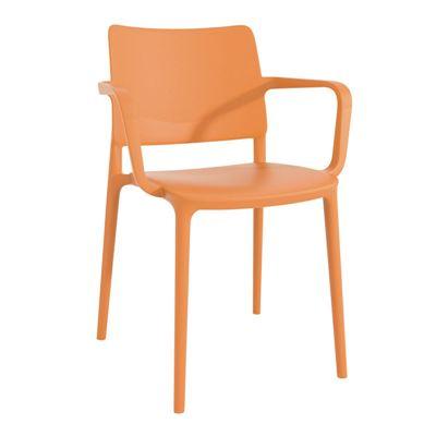 Stol Artin med armlener, orange, 4 stk/pk