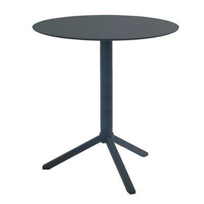 Cafebord Julie, sammenleggbart, rundt, svart