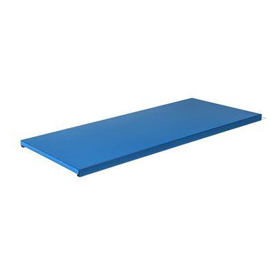 Hylleplate til stålskap Siljan, BxD 795x350 mm, 2-pk, blå, matt