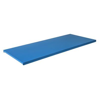 Hylleplate til stålskap Siljan, BxD 995x433 mm, 2-pk, blå, matt